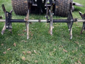 Using aerators on dry soil is largely ineffective